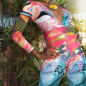 Party Colorful Stretchy Jumpsuit